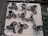 Qty 9 x Assorted Boat Propellers