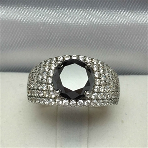Ladies Sterling Silver, 3.47ct Diamond a