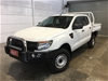 2012 Ford Ranger XL 4X4 PX Turbo Diesel Manual Crew Cab Chassis
