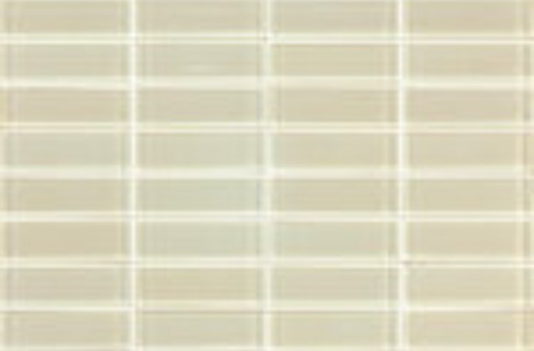 Cotto 06T-GL-1000 Ivory Glass Mosaic Tiles 22x73mm On Sheets, 4.6m², 75Kg