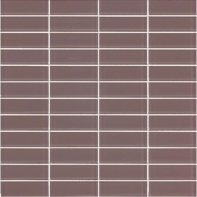 Cotto 06T-GL-7004 Grey Glass Mosaic Tiles 22x73mm On Sheets, 4.6m², 75Kg