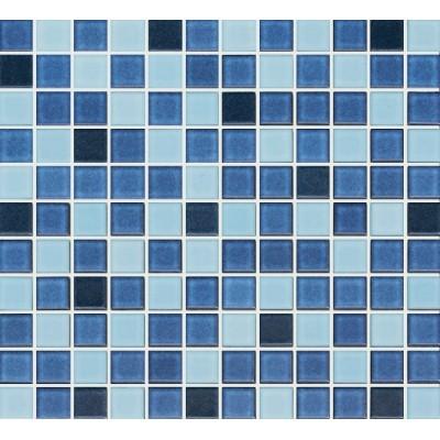 Cotto 1S-MBL-17 25x25mm Light Blue Blend Ceramic Pool Tiles, 100.44m²