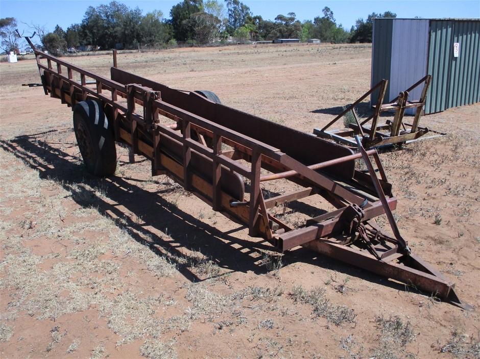 Single Axle Steel Fabricated Trailer