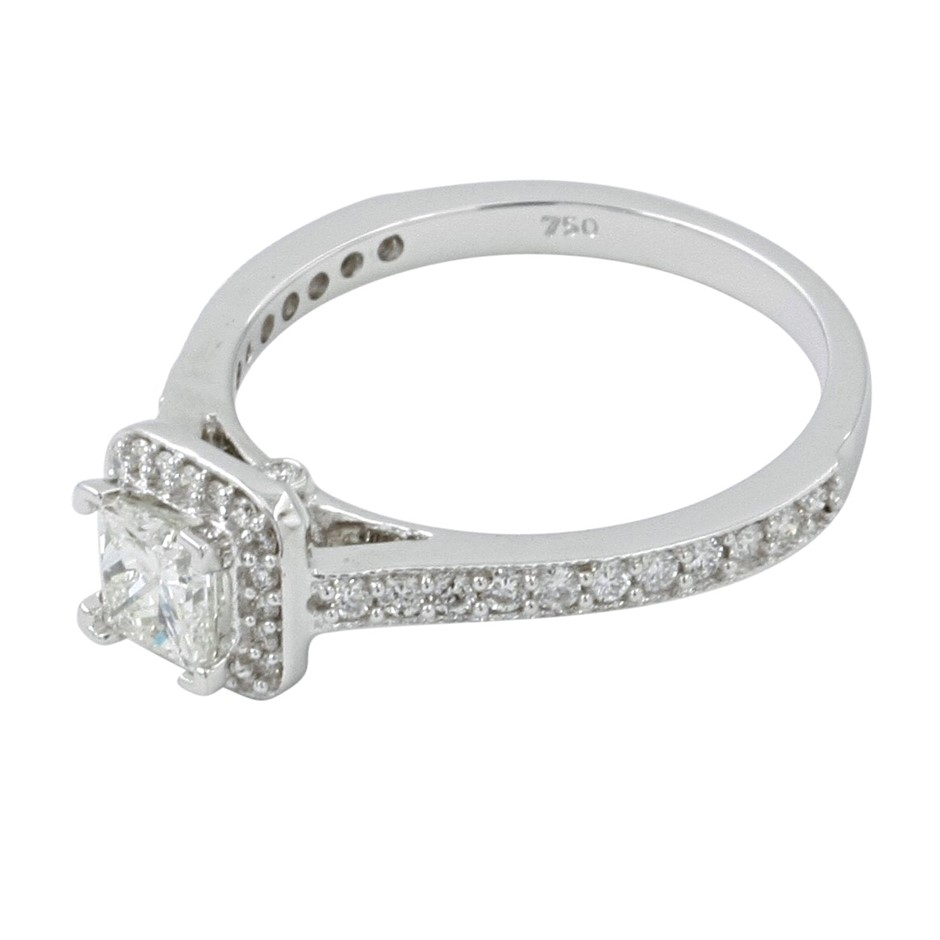 18ct White Gold, 0.84ct Diamond Engagement Ring