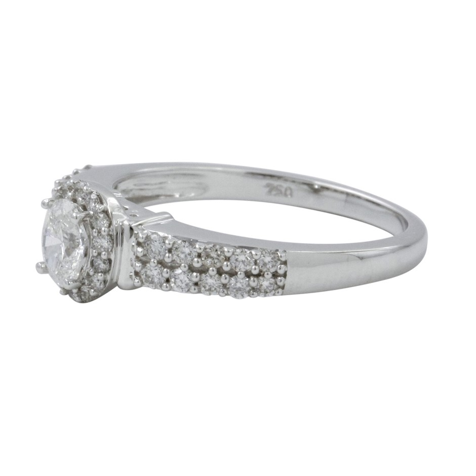 18ct White Gold, 0.67ct Diamond Engagement Ring