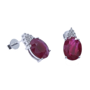 9ct White Gold, 4.19ct Ruby and Diamond