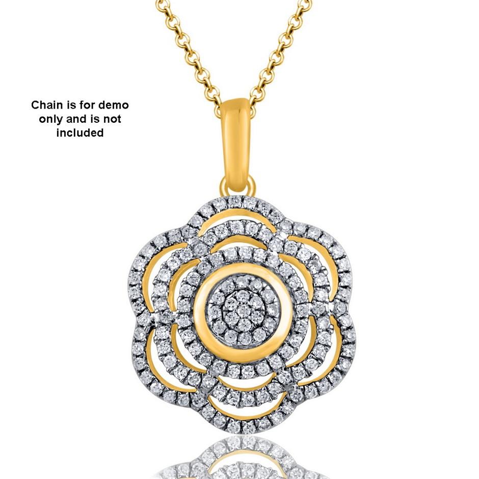 9ct Yellow Gold, 0.20ct Diamond Pendant