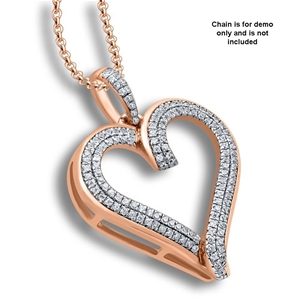 9ct Rose Gold, 0.20ct Diamond Pendant