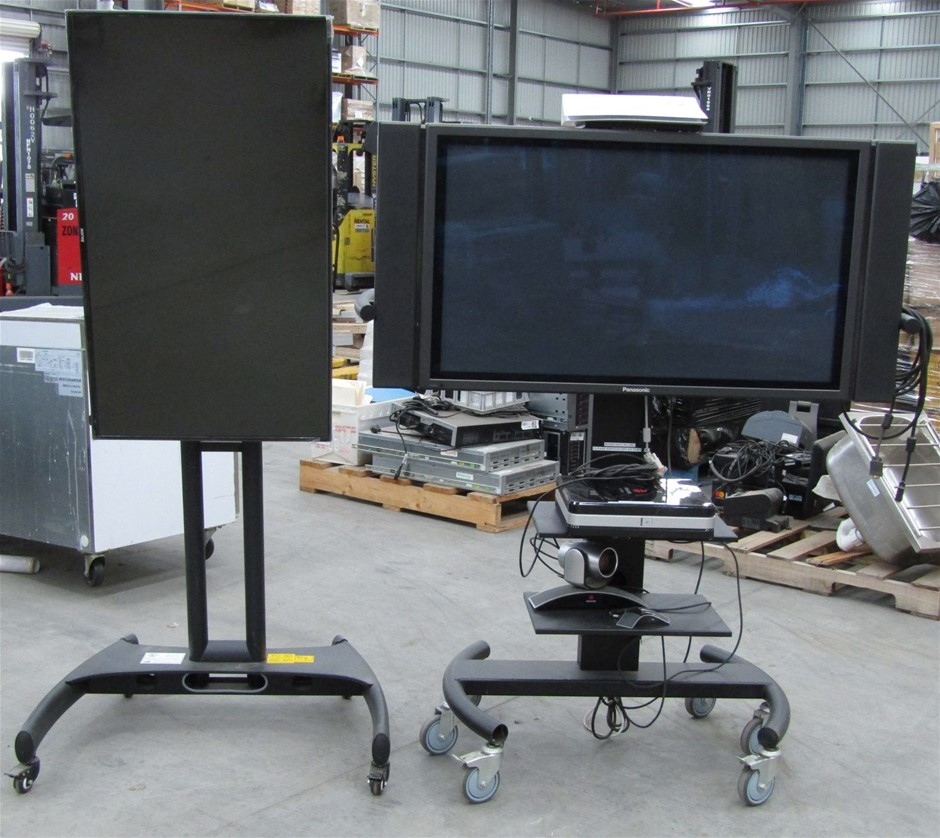 Polycom Conferencing System & 2 x TV's