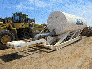 RoadWest Transport Single Axle Trailer and Welltech Mobile Water Tower
