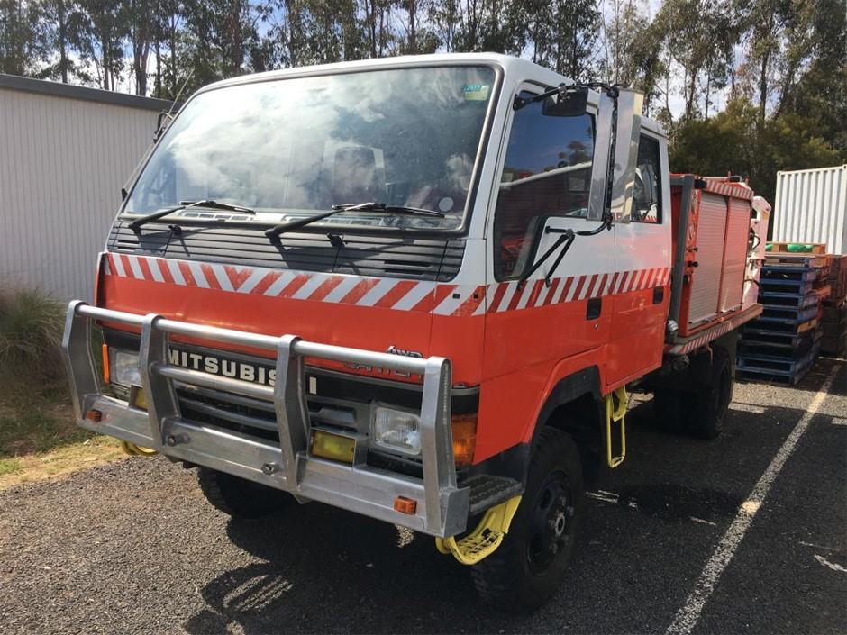 1992 Ex-RFS Mitsubishi 4x4 Canter Flat Bed Truck
