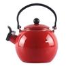 2.0 Litre 18/10 Stainless Steel Enamelled Porcelain Kettle Kitchen New Red