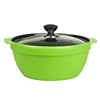 SOGA 3.5L Ceramic Casserole Stew Cooking Pot with Glass Lid Green