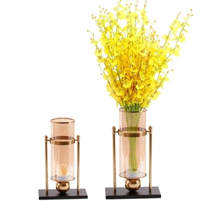SOGA 40cm Transparent Glass Flower Vase