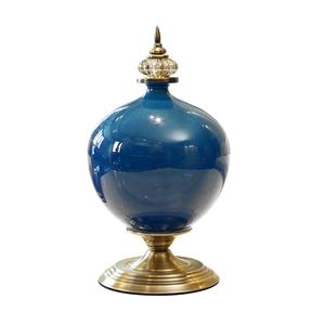SOGA 38.50cm Ceramic Oval Flower Vase wi