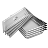 SOGA 4x Gastronorm GN Pan Full Size 1/1 GN 100mm Stainless Steel Tray w/Lid