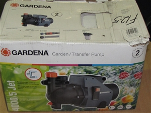 1 x nylex gardena garden transfer pump 4000 5 jet product code g1731 auction 0003 2107786. Black Bedroom Furniture Sets. Home Design Ideas