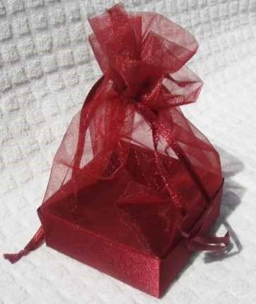Organza Gift Box Burgundy