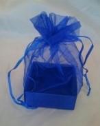 Organza Gift Box Electric Blue
