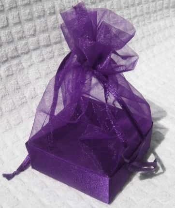 Organza Gift Box Purple