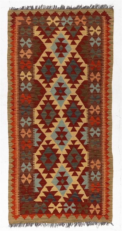 Afghan Chobi Kilim Flat weave Floor Rug Size (cm): 100 x 200