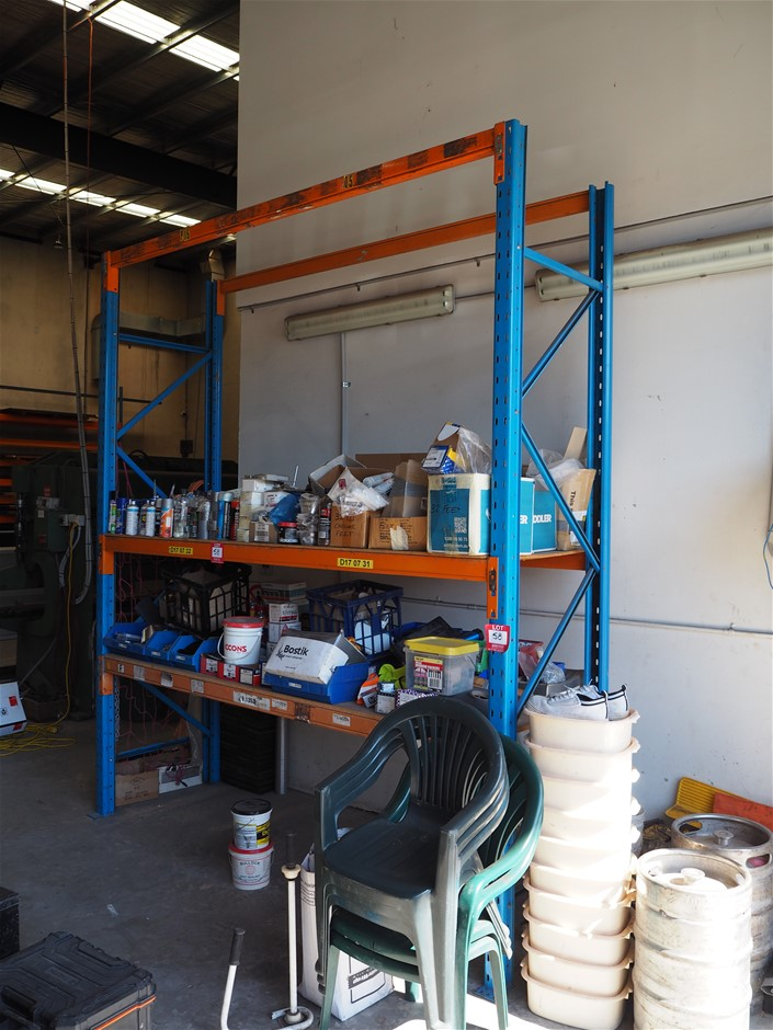 Freestanding Bay of Pallet Racking and Contents