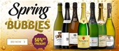 Spring Bubbles Promo - 50% Off Freight