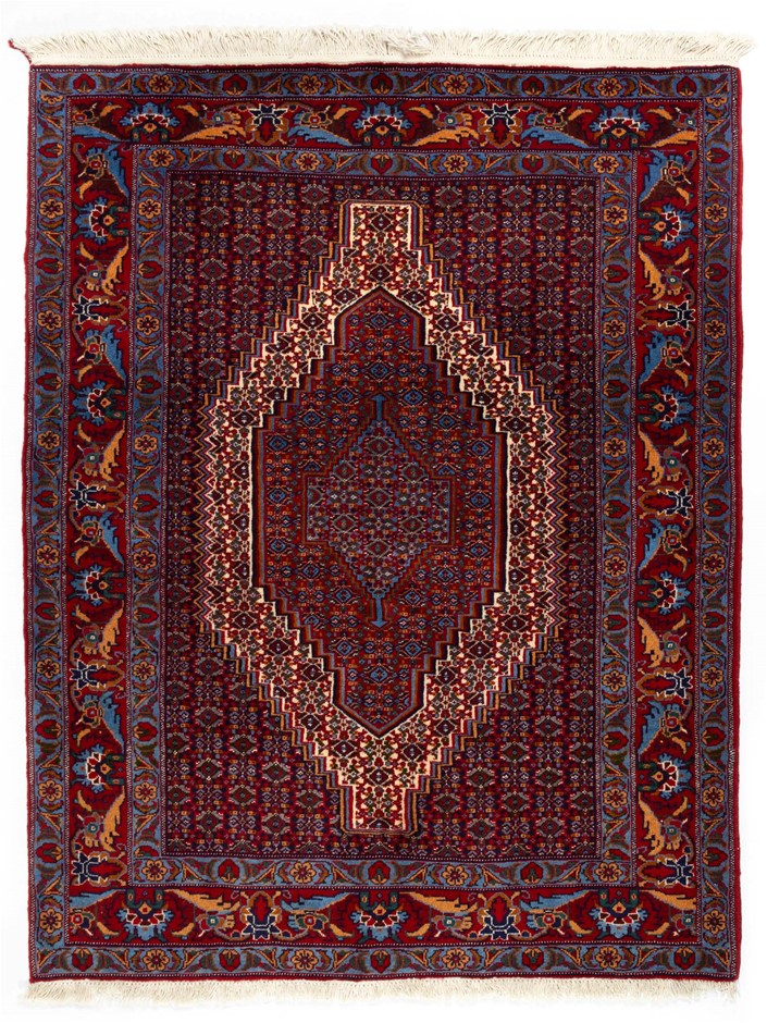 Persian Bidjar Hand Knotted 1005 Super Heavy Wool Pile Size (cm): 125 x 160