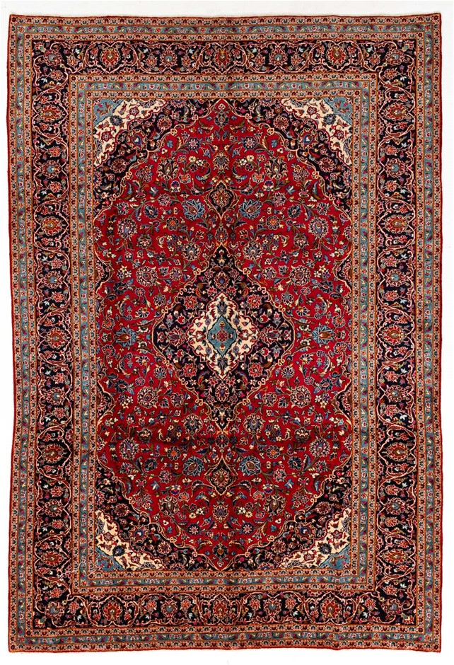 Persian Kashan Hand Knotted 100% Wool Pile Size (cm): 248 x 360