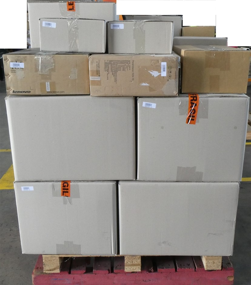 Pallet of Assorted USED/UNTESTED Lenovo Desktops