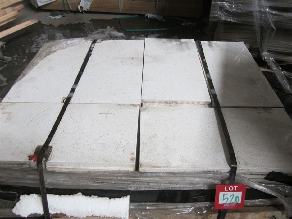 Pallet of 60 Nougat Caesarstone Pavers. 600mm x 300mm x 20mm