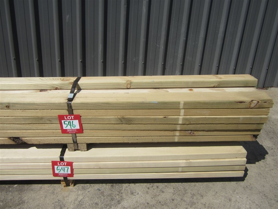 Pack of 90mm x 35mm H3 Treated pine.