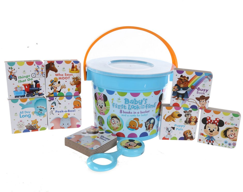 Baby`s First Look & Find Comprising; 8-Books & Rattle in a Bucket. Buyers N