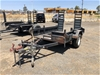 Large Heavy Duty Single Axle Plant Trailer