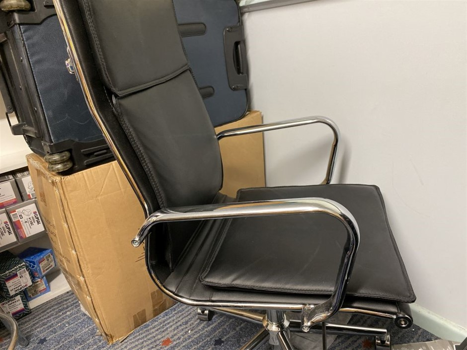 High Back Black chrome Finish Office Chair more then one available buye