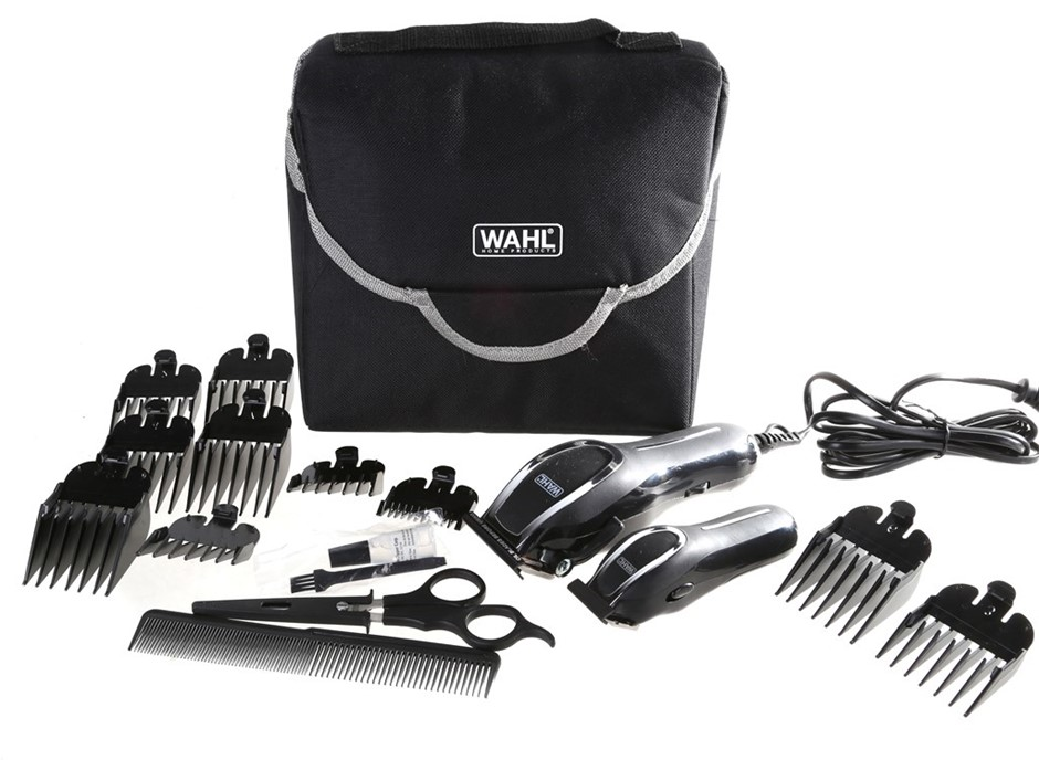 WAHL Home Hair Cutting Kit in Soft Carry Case. N.B. Not in original box & h