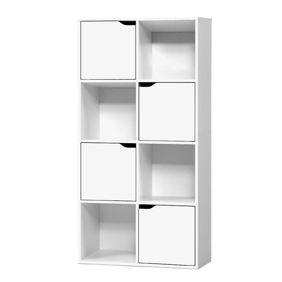 Artiss Display Shelf 8 Cube Storage 4 Door Cabinet Organiser Bookshelf Unit