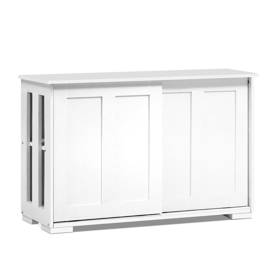 Artiss Buffet Sideboard Cabinet White Doors Storage Shelf Cupboard Hallway