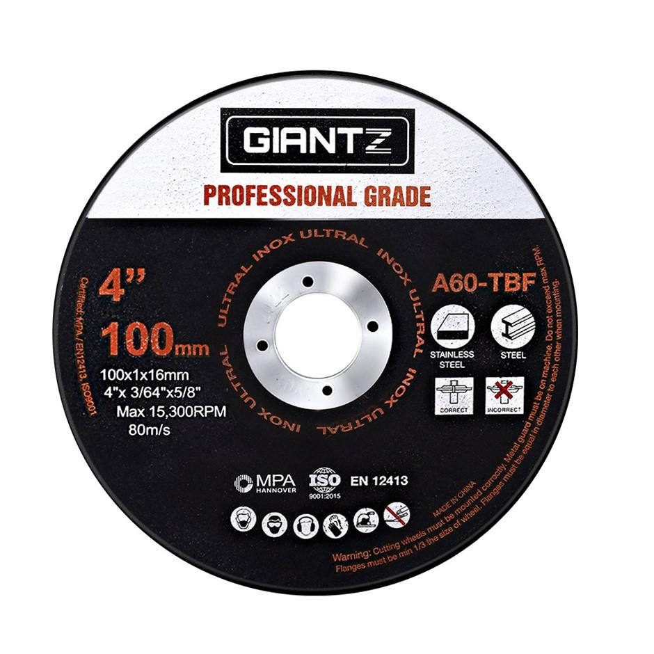 "Giantz 25 x 4"" Cutting Disc 100mm Metal Cut Off Wheel Angle Grinder Steel"