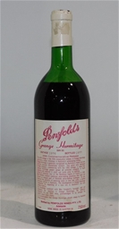 Penfolds `Grange` Shiraz 1976 (1x 750mL), SA. Cork closure.