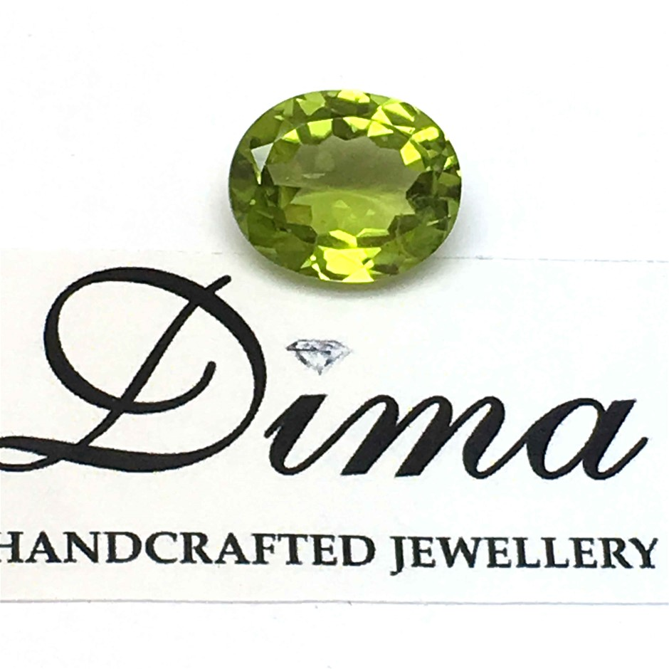 One Stone Peridot, 4.60ct in Total