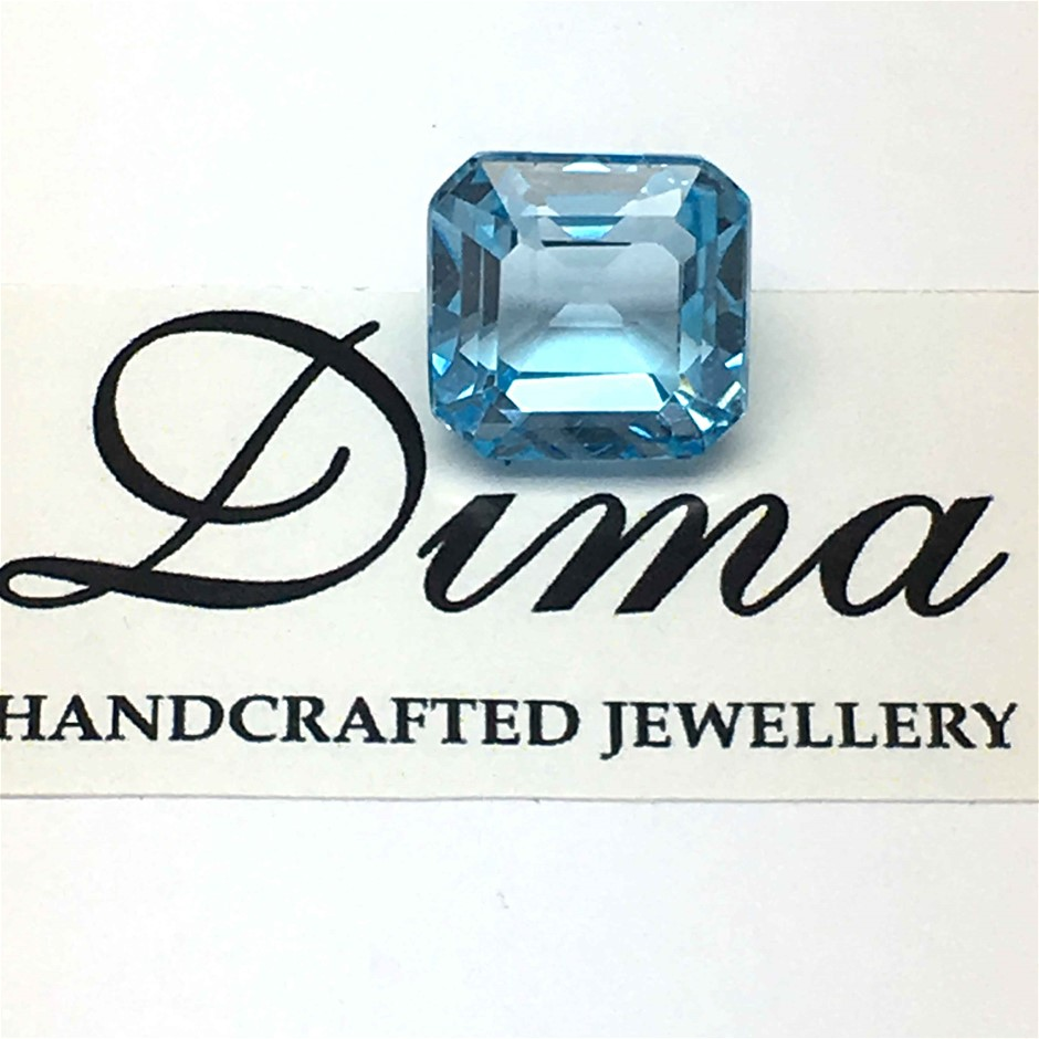 One Stone Blue Topaz, 8.32ct in Total