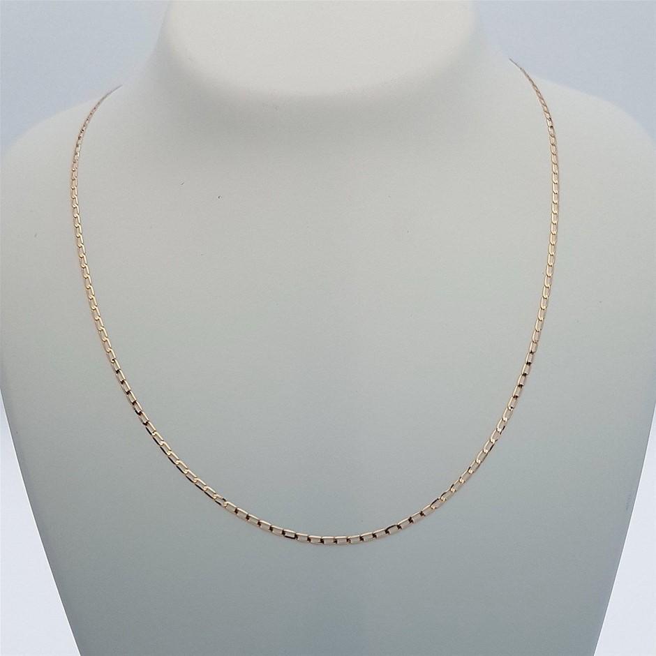 Genuine Italian Solid 9 Karat Rose Gold 60 cm chain necklace