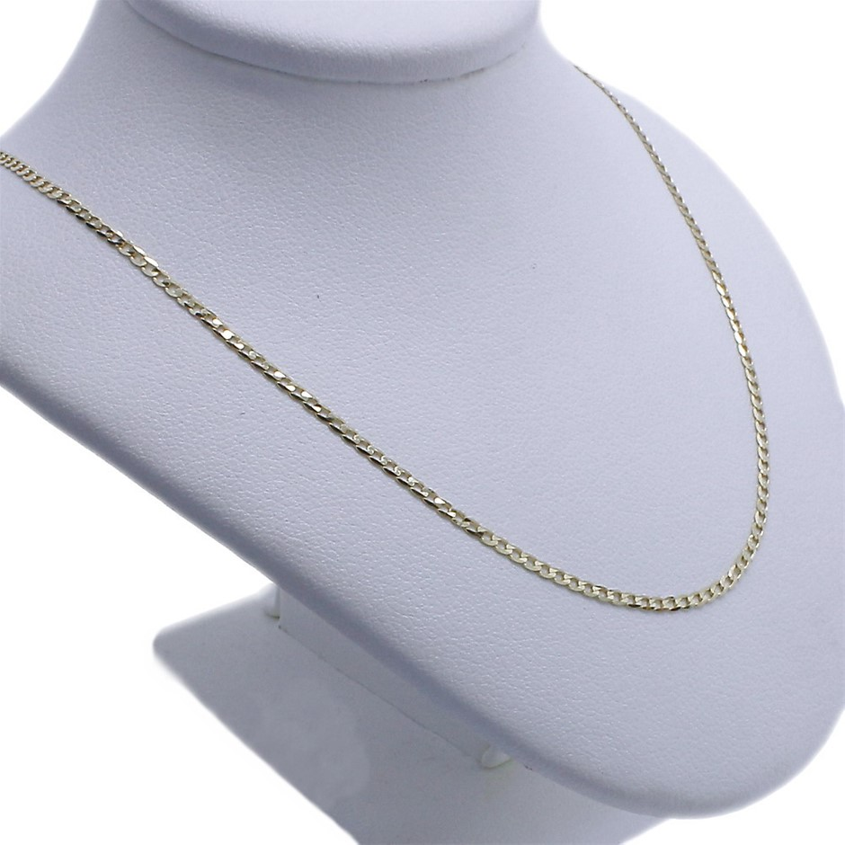 Genuine Italian Solid 9 Karat Yellow Gold 55 cm chain necklace