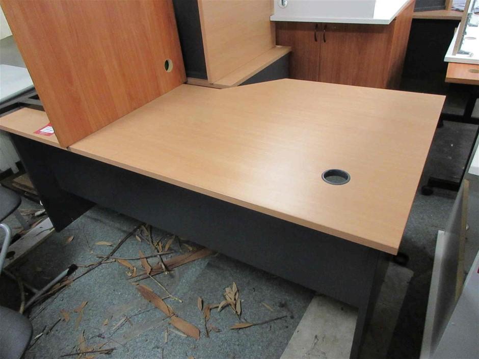 Timber Laminate Desk with Side Return
