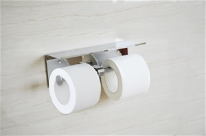 Stainless Steel Double Toilet Paper Hold