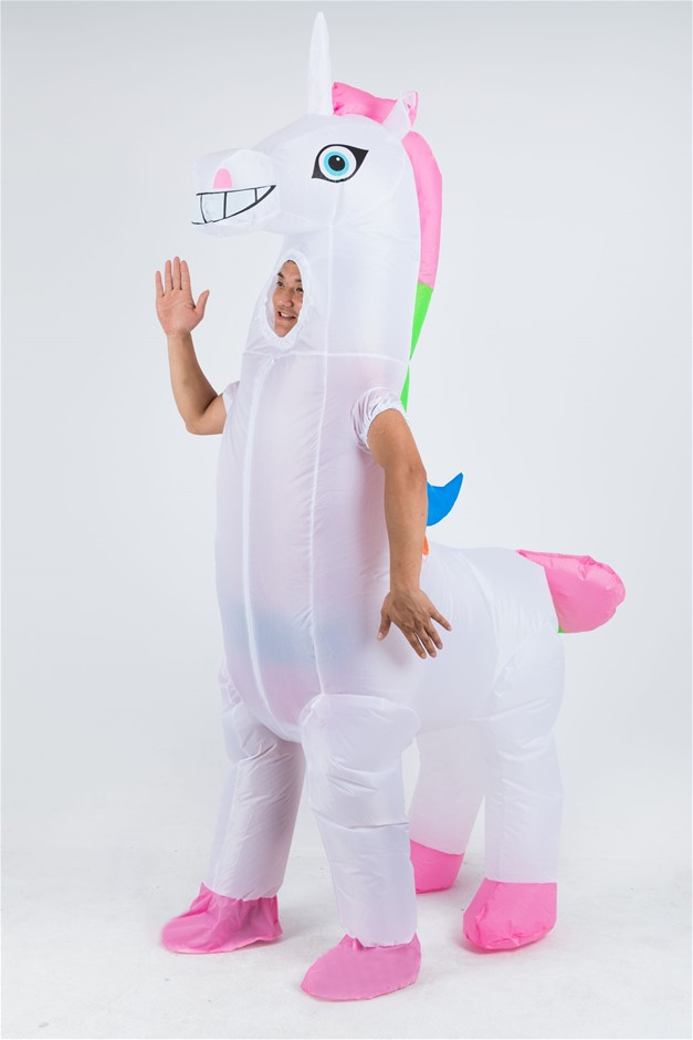 Giant Unicorn Fancy Dress Fan Inflatable Costume Suit
