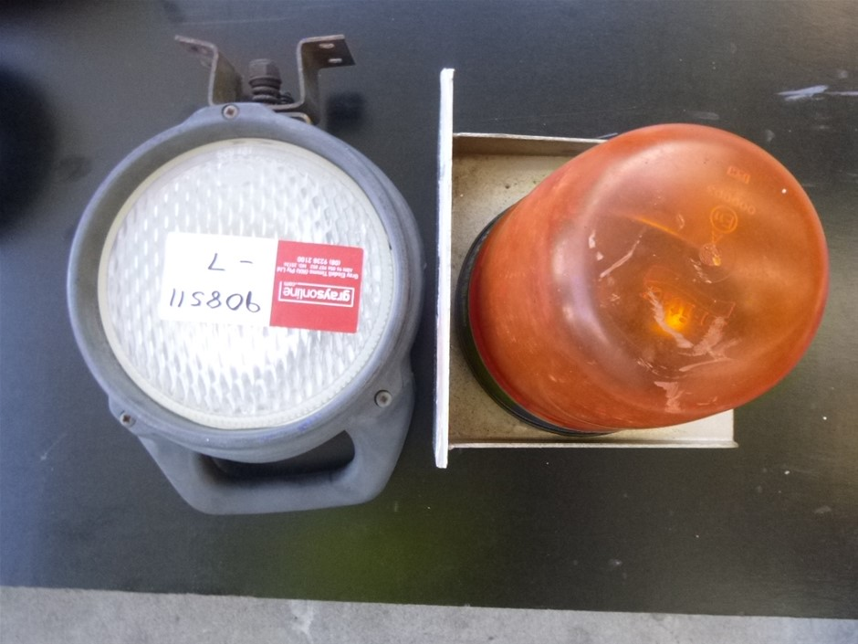 Amber Beacon Light & Spot Light
