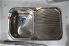 Stainless Steel Kitchen Bowl with Right Hand Drainage Board