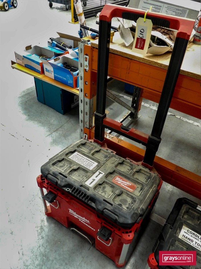 1 x Packout Tool Box and Contents - Milwaukee